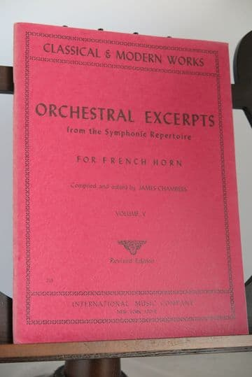 Orchestral Excerpts from the Symphonic Repertoire for Horn Vol 5